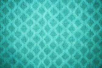 Teal Dish Towel with Diamond Pattern Texture Picture Photograph