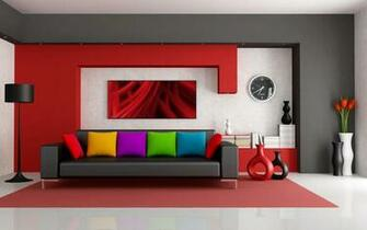 Amazing Home Interior wih Colorful Pillow HD Wallpapers