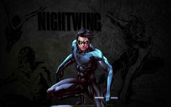 Nightwing Wallpaper Stud by Miggsy