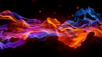 Smoke Fire Bright Colorful Background Wallpaper Background HD
