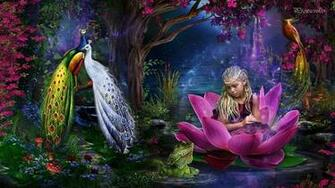 Magic Garden Wallpaper 1366x768   Dark Gray HD Desktop Background