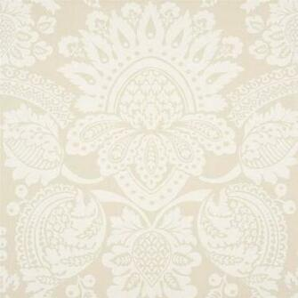 INTERIORS BALMORAL DAMASK WHITE BEIGE WALLPAPER SAMPLE 300711 eBay