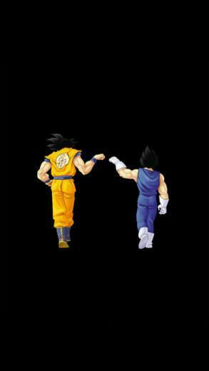 Dragon Ball Fistbump iPhone 5C 5S wallpaper