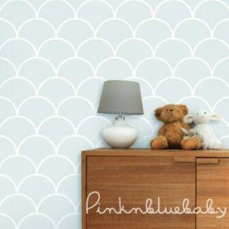 Fish Scale Blue Removable WallPaper
