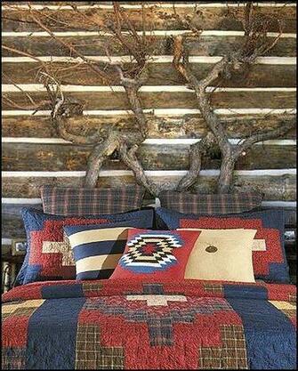 bear decor   Antler decor   Cabin decor   log cabin boys theme bedroom