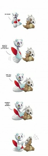 Pokemon Cubone Crying by SilentGPanda