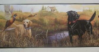 LABRADOR RETRIEVER DOGS PHEASANT HUNTING Wallpaper Border 6