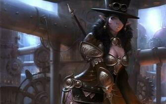 Steampunk Girl Wallpaper Art choi keun hoon girl elf