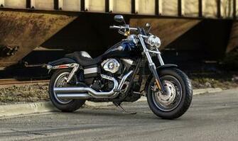 Harley Davidson Fat Bob 2013 Front 3 Quarter Blue