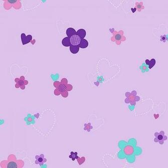 Disneys Flower Hearts Removable Wallpaper