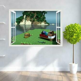 Minecraft 3D Wall Sticker Kids Home Dcor Room Wall Decal Cartoon