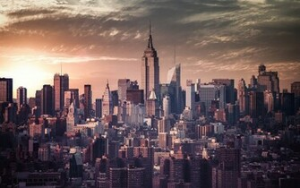 Vintage New York City Skyline Wallpaper   HD Background