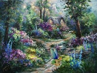 Fairy Garden Desktop and mobile wallpaper Wallippo