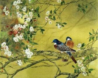 Flower and Bird Painting by Zou Chuan An 12801024 NO3 Wallpaper