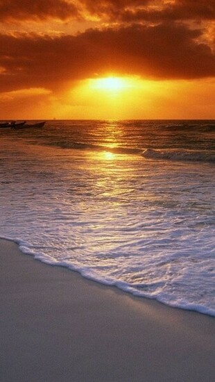 Download Ocean Beach Sunset HD iPhone 5 Wallpapers   Part One