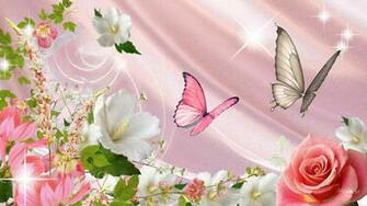 Wallpaper Butterflies and Flowers