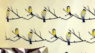 Bird Wallpaper Design by Lorna Syson at 100 Percent Design London UK