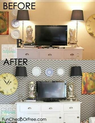 Starch Fabric Removable Faux Wallpaper   Fun Cheap or