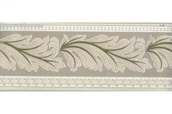 Brown Running Floral Wallpaper Border
