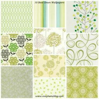Spring greens 10 green wallpaper decorating ideas Cosy Home Blog