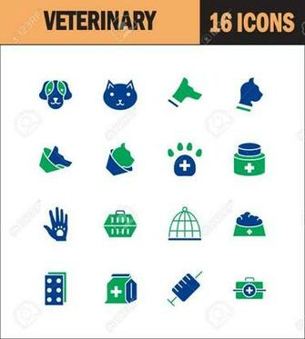 Vet Icon Set Collection Of Veterinary Line Icons High Quality