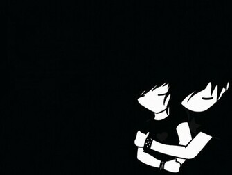 1024x768 Emo boy and girl desktop PC and Mac wallpaper