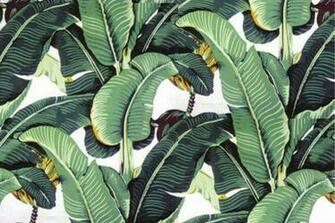 your interior Martiniques iconic banana leaf patterned wallpaper