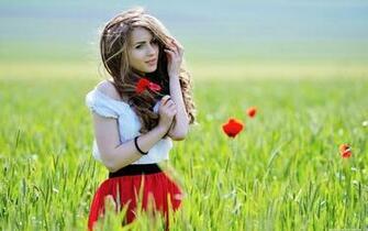 Photography Most beautiful girl in flower field hd wallpaper