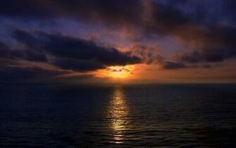 Sunset Over Ocean Wallpaper 1280x800