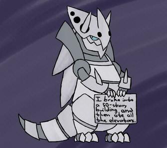 pokemon shaming   mega aggron by Squeekleen2