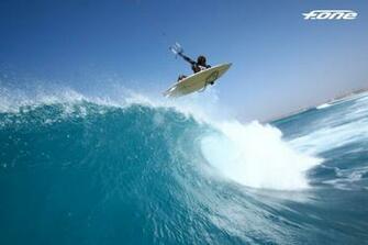Kitesurfer Mitu Monteiro getting some air off a nice wave   fone kites