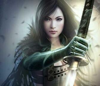 Gorgeous Female Samurai With Sword HD Anime Wallpaper Cute Pretty