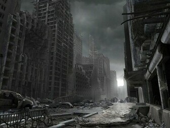 destroyed the city Wallpaper kj5hr