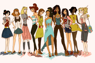Modern Disney Princesses by Twilight Kairi