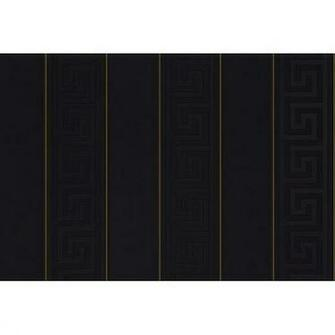 Shop By Style Feature Wall Greek BlackGold Stripe Wallpaper
