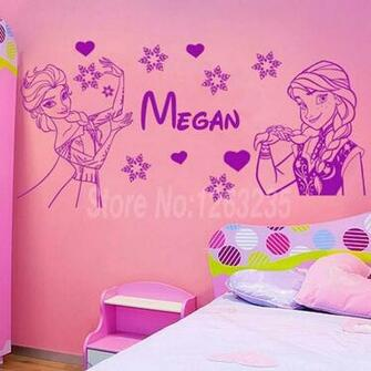 free shipping Personalized custom Name beautiful Girls wall decals