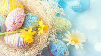 Easter Eggs And Flowers UHD 4K Wallpaper Pixelz