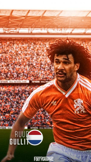 Ruud Gullit lockscreen FootyGraphic
