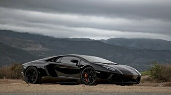 Lamborghini Aventador Black 1080p HD Wallpaper 326 Car   bwalles