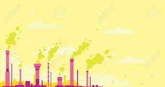 Air Pollution Conceptual Illustration Background In Flan Style