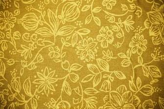 Gold Fabric with Floral Pattern Texture   High Resolution Photo
