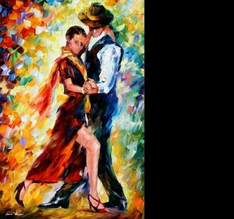 Leonid Afremov   Romantic Tango for Ton wallpaper   ForWallpaper