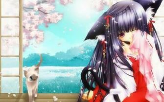 Anime Cat Girl Wallpapers Girl And Cat 1920x1200