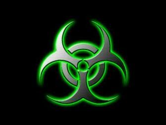 Cool Biohazard Symbol Wallpaper Green biohazard by