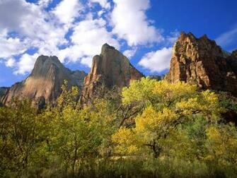 Three Patriarchs Zion National Park Wallpapers HD Wallpapers