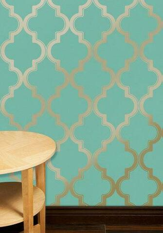 Chic Removable Wallpaper as Seen on HGTVs Power Broker Dorm Room