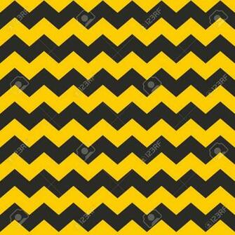 Zig Zag Chevron Black And Yellow Tile Vector Pattern Or Wallpaper