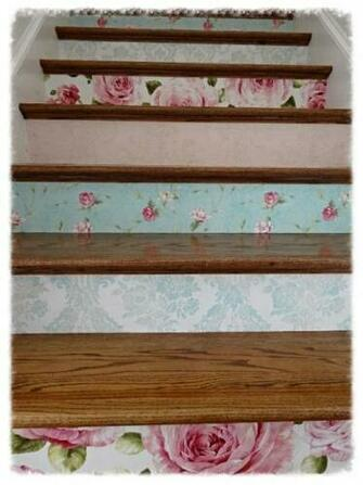 Wallpapering Stair Risers TutorialTips Art Home