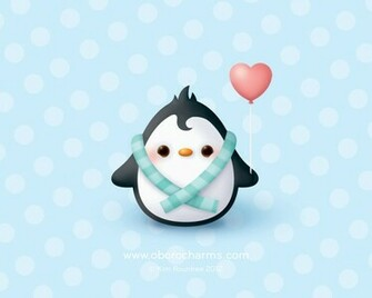 Baby Penguin Wallpaper by Oborochann