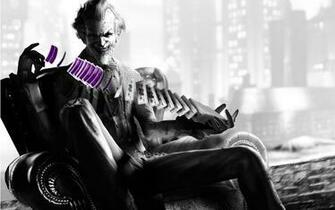 Batman the joker arkham asylum city wallpaper